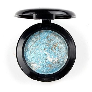 Mallofusa Single Color Baked Eye Shadow Palette Glitter Powder in Shimmer 15 Metallic Colors Optional
