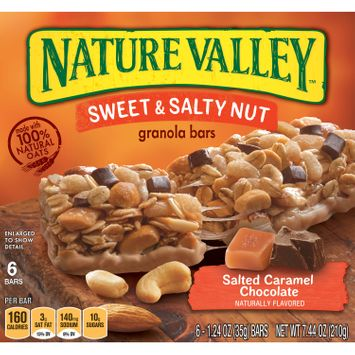 Nature Valley Salted Caramel Chocolate Sweet and Salty Nut Granola Bars, 7.44 oz
