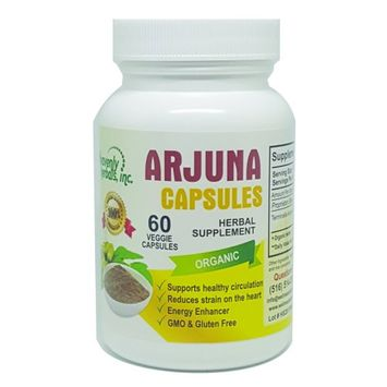 Heavenly Herbals Arjuna Organic Capsules for Cholesterol, Blood Pressure & Healthy Heart Function Support Made in the USA.