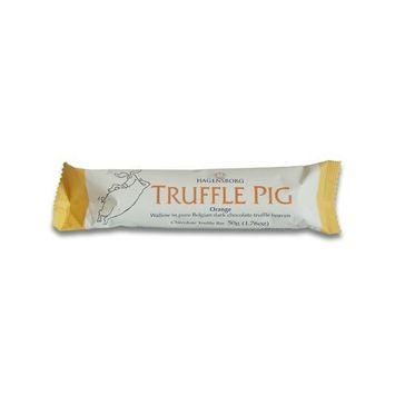 Hagensborg Truffle Pig Bar - Dark Chocolate Orange - (pack of 6)