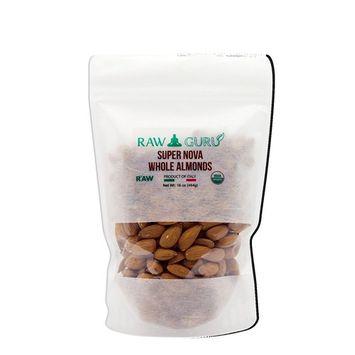 RawGuru Supernova Almonds #1 - Organic, Unpasteurized, Superior Quality 8 oz