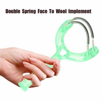 Super Lightweight Double Springs Handheld Facial Hair Epicare Epilator Holiday Gifts, green,