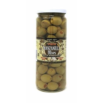 Trader Joe's Spanish Manzanilla Olives with Pimentos NET WT. 14.5 OZ