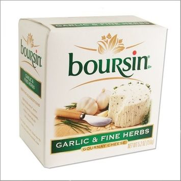 Boursin Cheese with Garlic and Fine Herbs - Gournay Cheese - 5.2oz - (Pack of 2)