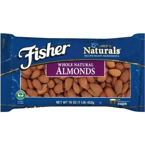 Fisher Almonds, Whole, 16-Ounce Packages (Pack of 2)
