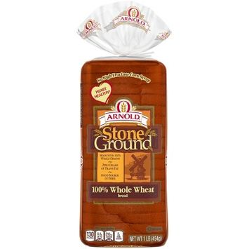 Arnold: Stoneground 100% Whole Wheat Bread, 20 Oz