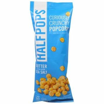 Halfpops, Curiously Crunchy Popcorn, Butter & Pure Ocean Sea Salt, 4.5 oz (pack of 6)