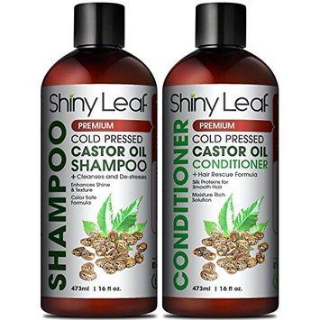 Castor Oil Shampoo and Conditioner With Biotin, Organic Castor Oil, Cleanses & Destresses Hair, Safe for Color Treated Hair, Repair Hair Damage, Hair-Growth Enhancer 16 Fl. Oz.