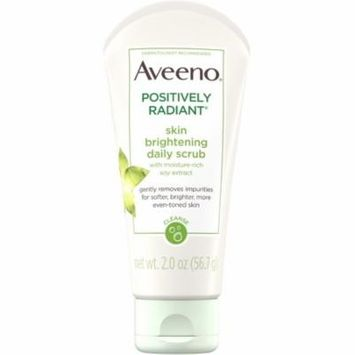 6 Pack - AVEENO Positively Radiant Skin Brightening Exfoliating Daily Facial Scrub with Moisture-Rich Soy Extract, Jojob