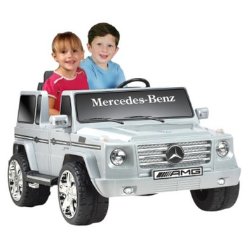 National Products LTD. Kid Motorz Mercedes Benz G55 12V Two Seater Ride On - Silver