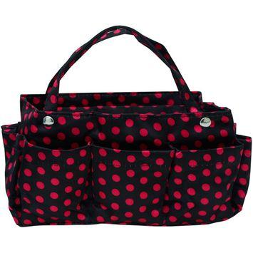 Polka Dot Print Organizer Travel Bag