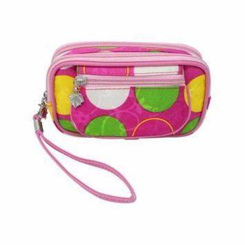 Multicolor Polka Dot Cosmetic Case