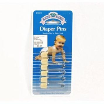 BABYKING DIAPER PINS 6-PACK