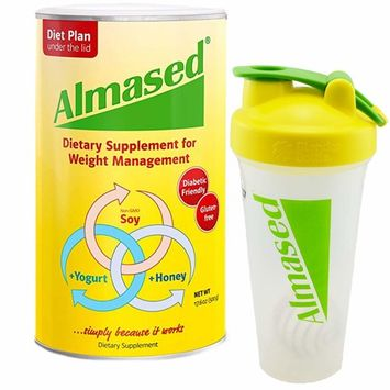 Almased Multi Protein Dietary Supplement Supports Weight Loss, 17.6 oz Bundle with an Almased Blender Bottle