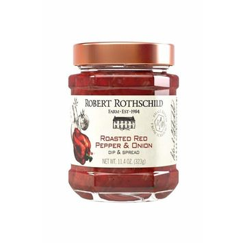 Robert Rothschild Farm Roasted Red Pepper & Onion Dip (11.4 oz) - Dip & Spread - Sauce for Chicken, Meatloaf, Salmon - Gluten Free and Certified Kosher