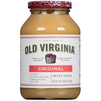 Old Virginia 276496 24 oz Apple Natural Sauce Pack of 12