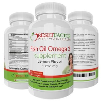 Omega 3 Fish Oil Supplement by Reset Factor