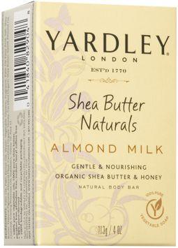 Yardley London Shea Butter Natural Soap, Almond Milk