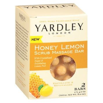Yardley of London Scrubbing Massage Bars Honey Lemon - 4 oz.