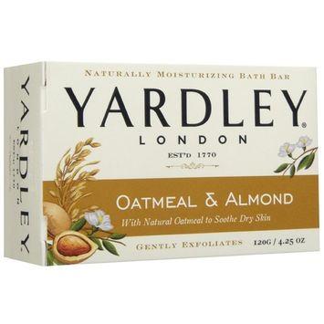 Yardley London Soap Bath Bar Oatmeal & Almond 4.25 Oz 120 G