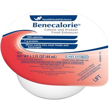 Benecalorie Unflavored 1.5 oz. Cup Ready to Use, 10043900282500 - EACH