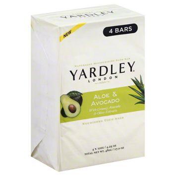 Yardley of London Naturally Moisturizing Bar Soap Fresh Aloe with Cucumber Essence
