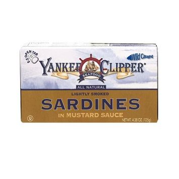 Yankee Clipper Sardines, In Mustard, 4.38-Ounce (Pack of 24)