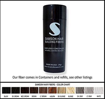 Samson Hair Fibers MEDIUM BROWN Samson Best Hair Loss Concealer Building Fibers CONTAINER With 25grams Also Fits Toppik Xfusion Spray Applicators