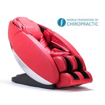 Human Touch Novo Zero Gravity Massage Chair Upholstery Color: Red