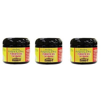 [PACK OF 3] JAMAICAN MANGO & LIME BLACK CASTOR OIL PIMENTO OIL 7IN1 BUTTER 6 OZ : Beauty