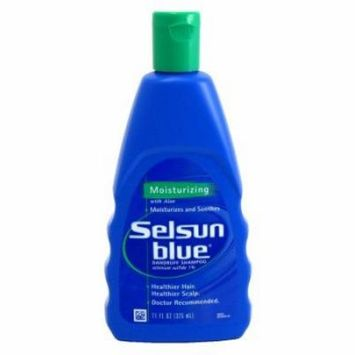 Selsun Blue Dandruff Shampoo, Moisturizing with Aloe for Dry Scalp and Hair, 11 Ounce (Pack of 6)
