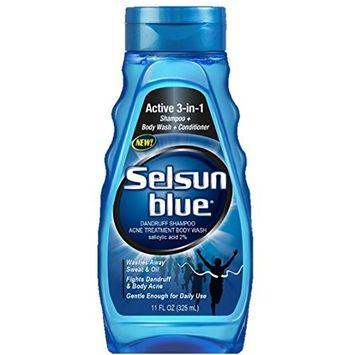 Selsun Blue Active 3-in-1 Dandruff Shampoo 11 Ounce