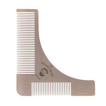 The BEARDMAN Beard Shaper, Beard Shaping Tool, Beard Shaping Template Tool & Beard Comb, Premium Quality Beard Shaper for those Perfect Lines and Symmetry … (Shaper)