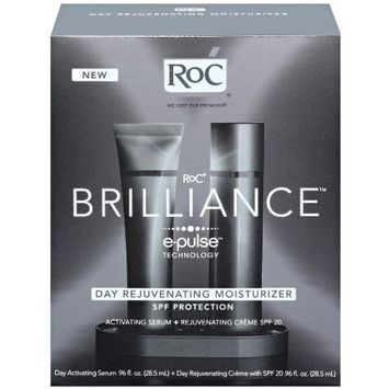 RoC BRILLIANCE Day Rejuvenating Moisturizer Kit with Activating Serum and Rejuvenating Creme SPF 20
