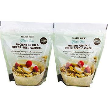 Trader Joe's Gluten Free Ancient Grain & Super Seed Oatmeal, 12oz (Pack of 2)