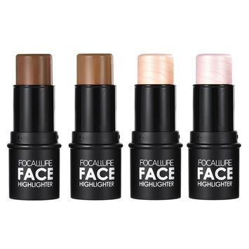 Focallure 4pcs 4 Colors Highlighting Pen Makeup Stick Concealer Powder Contour Palette Cosmetic Tool