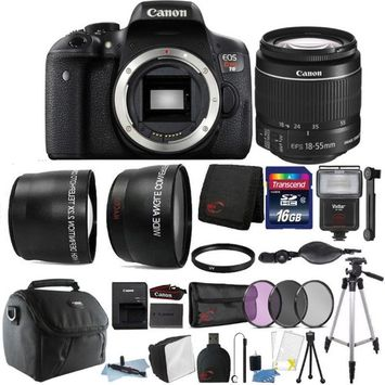Teds Canon EOS Rebel T6 18MP Digital SLR Camera 18-55mm Lens and 16GB Accessory Kit