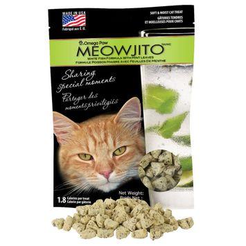 Omega Paw Meowjito White Fish with Mint Leaves Treats 3oz