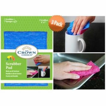 ODOR FREE Scrubbing Pad for Dishwashing and Cleaning | Strong & Scratch Free Scrubber | VERY Durable and Tough Scrub Sponge | No Mildew Smell from Sponges, Dishcloth, Cotton Rags, Wash Cloths