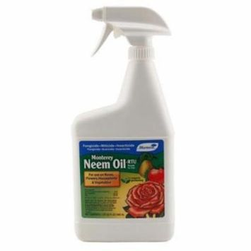 1 qt. - Monterey Neem Oil RTU - Insect and Fungal. Control - Organic Insecticide/Fungicide/Miticide Solution - 704609