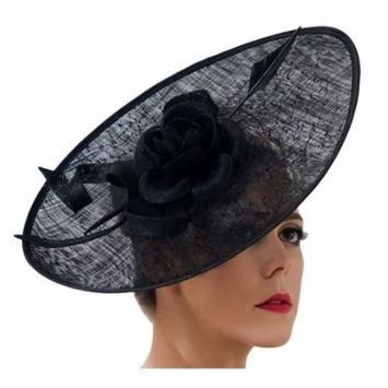 Coxeer Fascinator Hat Hair Accessory with Headband for Masquerade Prom Church Tea Party Women Girls