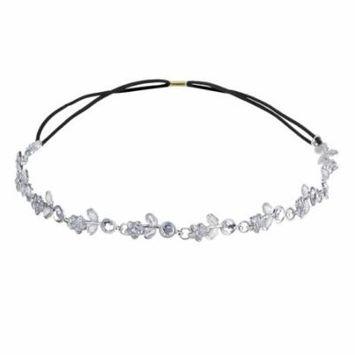 Wedding Headbands Fashionable Crystal Leaf Flower Decor Bridal Headband Wedding Headpiece for Women