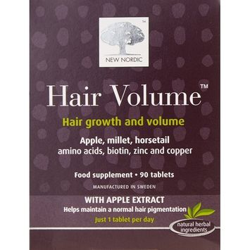 (10 PACK) - New Nordic Hair Volume Hair Tablet Supplement | 90s | 10 PACK - SUPER SAVER - SAVE MONEY : Grocery & Gourmet Food