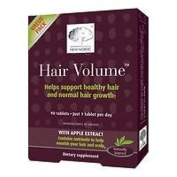 (2 PACK) - New Nordic Hair Volume Hair Tablet Supplement | 90s | 2 PACK - SUPER SAVER - SAVE MONEY : Grocery & Gourmet Food