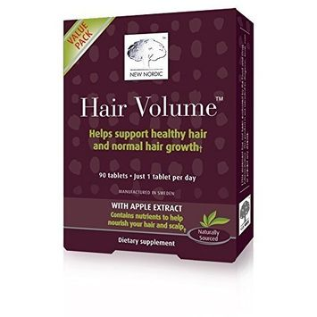 (6 PACK) - New Nordic Hair Volume Hair Tablet Supplement | 90s | 6 PACK - SUPER SAVER - SAVE MONEY : Grocery & Gourmet Food