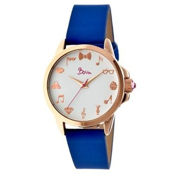 Women's Boum Rendezvous Watch with Leather Strap