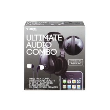 VIBE Vibe Ultimate Audio 3-Pack Combo - Earbuds, Headphones, and Speakers