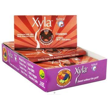 Xylitol USA - Xyla Naturally Sugar Free Gum Cinnamon - 12 Piece(s)