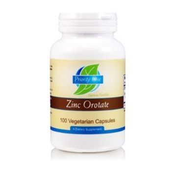 Priority One Vitamins - Zinc Orotate 100 caps Health and Beauty