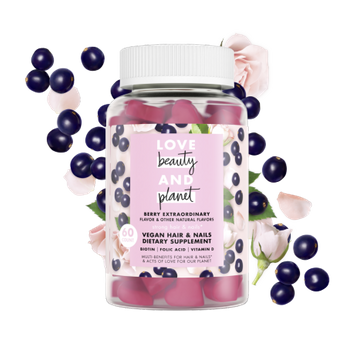 Love Beauty and Planet berry extraordinary vegan hair & nails dietary supplement